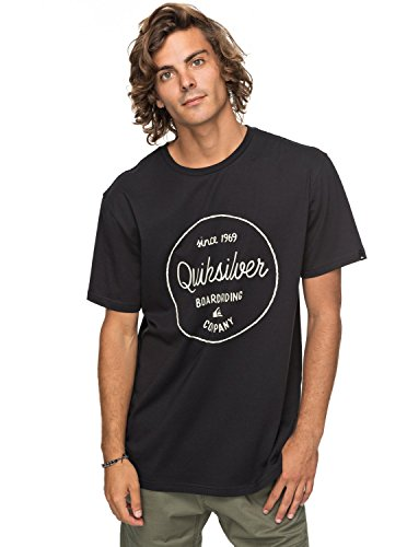 Quiksilver Clmornslides Kvj0 T-Shirt Homme, Anthracite/Solid, FR : S (Taille Fabricant : S)