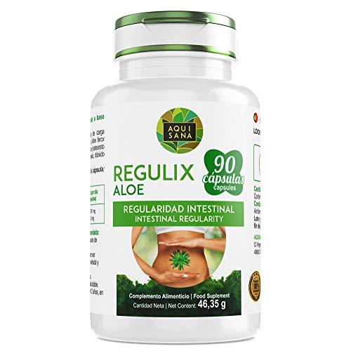 Detox Aloe Vera | Regulix Aloe -Aquisana | Detox Adelgazante Potente, Depurativo, Diurético y Laxante Natural Ayuda a Eliminar Toxinas y Favorece Nuestro Sistema Digestivo | 90 Cápsulas