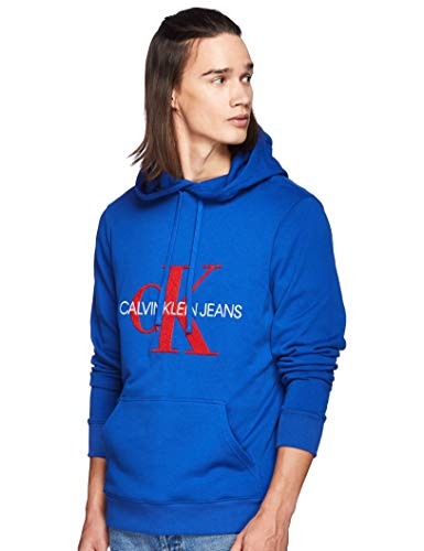 Calvin Klein Ck Hoody Toweling Monogram Royal Red Größe: XL Farbe: Blue