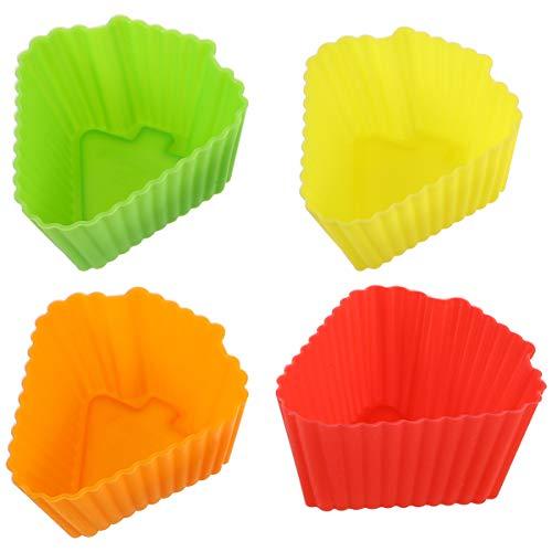 NICEXMAS 20 Piezas de Silicona Moldes para Cupcakes Pastelería Resistente Al Calor...