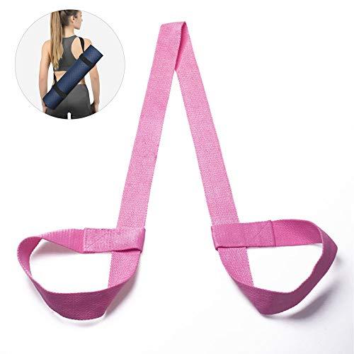 WAINEO Yoga Mat Carry Strap Sling - Einstellbare Fitness Stretching Mat Strap Gürtel Gurte Trägerschlaufen Halter Für Bewegung/Pilates/Fitnessstudio/Camping 1pc/Rosa