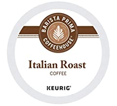 """Convenient 96-count case (4 packs of 24) of Barista Prima Italian Roast (Packaging May Vary; may be written as """"Melange Italien"""") Brewing occurs inside the K-Cup so no flavor residue is left behind to spoil the next cup. Single-serving packaging mean..."""