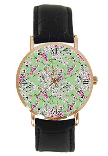 Reloj de Pulsera con diseño de Flores de melocotón y Cereza, clásico,...