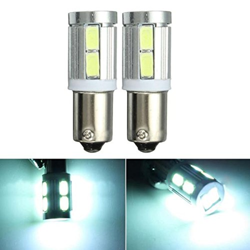MASUNN Paire Blanc BAX9S 150 H6W 10SMD Side Ampoules CANbus Erreur