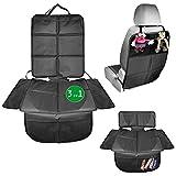 Babies1st Sitzschoner Auto Kindersitz Schutzunterlage   3-in-1 Schutz   Kindersitzunterlage isofix   Unterlage für Sitzerhöhung und Rückenlehnenschutz