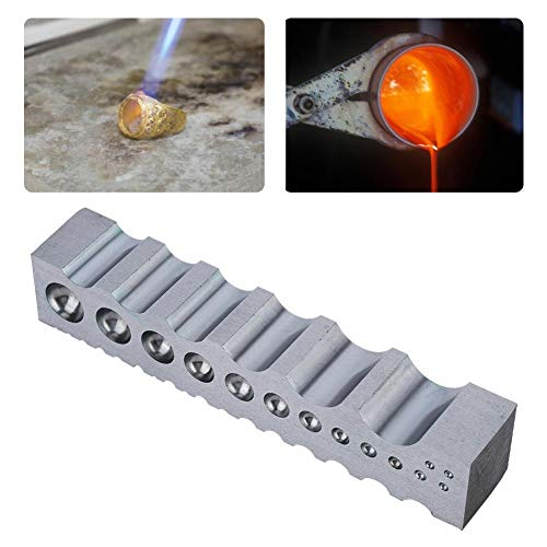 Herramienta de fabricación de joyas, anillo pulsera brazalete Canal de bricolaje molde de metal + herramienta de fabricación de joyas de cuatro lados para canal de joyería para uso en el(Grande)