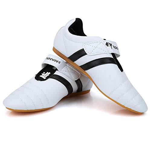 Fsskgx Zapatos de Taekwondo, Zapatillas de Artes Marciales, Boxeo, Zapatos Ligeros de Kung fu Taichi para Adultos y niños