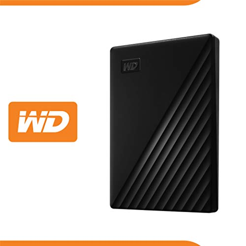 WD 2 TB My Passport disco duro portátil con protección con contraseña y software de copia de seguridad automática, Compatible con PC, Xbox y PS4, color Negro