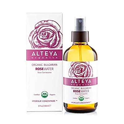 Alteya Organic Rose Water Spray 240ml Glass bottle- 100% USDA Certified Organic Authentic Pure Natural Rosa Damascena Flower Water Steam-Distilled and Sold Directly by the Rose Grower Alteya Organics