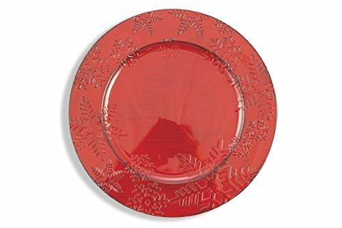 Galileo Casa Schneeflocke Platzteller, Rot, 33cm