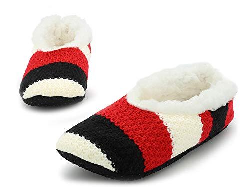 CityComfort Kuschelsocken Für Damen | Wolle Socken Mit Abs Sohle | Stoppersocken Hausschuhe | Socken Mit Winter Motiv | Anti Rutsch Socken Damen | Pantoffeln Damen Größe 38-41
