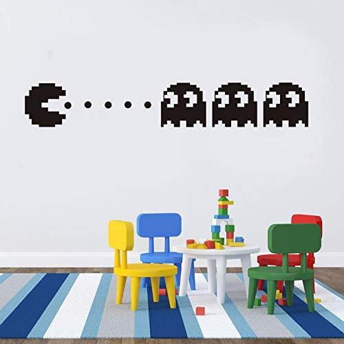 Pacman vinyl wandtattoo wohnkultur kinderzimmer dekor schlafzimmer diy tapete abnehmbare wandaufkleber
