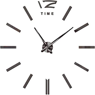 DENGDAI Large Mute Clock core Acrylic Wall Sticker Clock Home Decoration Mirror Sticker Living Room Bedroom