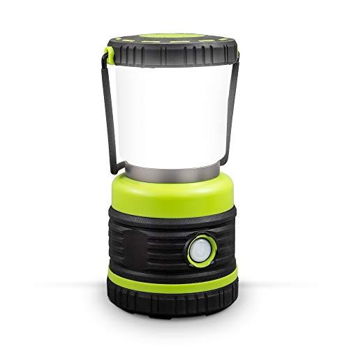 B.K.Licht I LED Campinglampe I extrem hell I bis 1000 Lumen I 3 Helligkeitsstufen I 4 Leuchtmodi I dynamisch dimmbar I Batteriebetrieben I Tragegriff