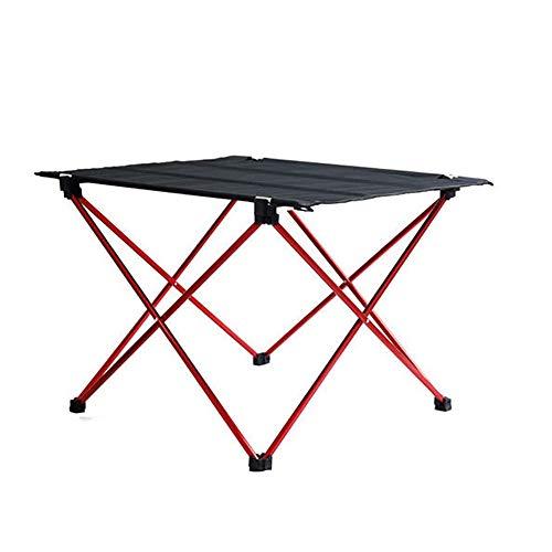 XRFF Tablas Ultraligero de plegamiento del Ocio, Tabla Portable Camping al Aire Libre de aleación de Aluminio Plegable Mesa de jardín
