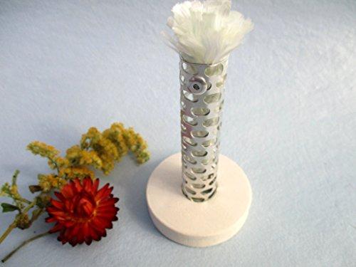 Dochthalter für Kerzenfresser Outdoor, Schmelzlicht, DIY-Set für Wachsfresser, Docht für Kerzenrecycling, Halter für Dauerdocht zum Schmelzen von Kerzen- und Wachsresten, mit Glasfaserdocht 10 mm