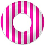 Float Naked   Pool Tubes with Fun Prints   Celebrity-Approved Tubes for Floating   Fun Swim Floaties for Adults   Great Inner Tube Pool Floaty for All Ages (Pink Stripe)