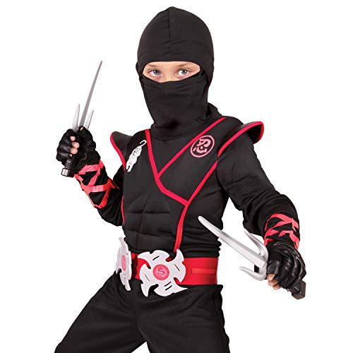 Stealth Ninja Costume for Kids, Child Ninjas Costume; Kids Halloween Costumes (Small (4-6)) Black