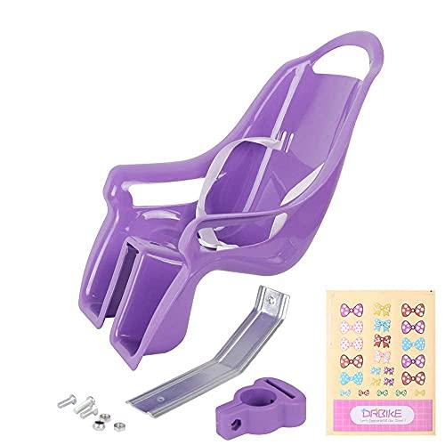 STITCH Kids Bike Doll Seat with DIY Sticker for Girls Bike, Kids Bike Accessories Purple