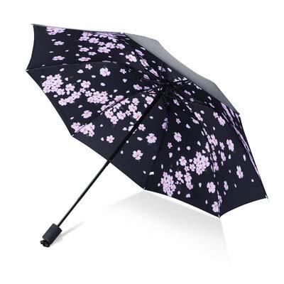 Mdsfe Paraguas Hombre lloviendo Mujer a Prueba de Viento Gran Flor 3D impresión Sunny Anti-Sun 3 Paraguas Plegable al Aire Libre - como imagen18, a2