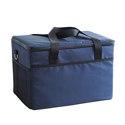 Fee-lice Kühltasche Kühlbox Wasserdichte Lunch Tasche Isolierte Thermo Picknicktasche für Lebensmitteltransport Camping Isoliertasche Kühlkorb Thermotasche Campingtasche Isolierbox (47L)