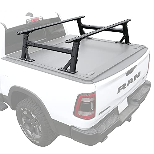 Syneticusa Overhaul HD Adjustable Height Heavy Duty Truck Bed Cargo Rack Compatible with F150 Ram...