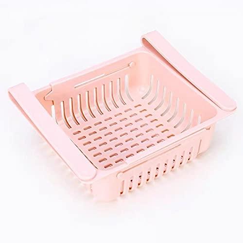 wuzun 1-3 Pezzi di Organizer Regolabile per Frigorifero E Cassetti Estraibili per Frigorifero-2-pack Pink