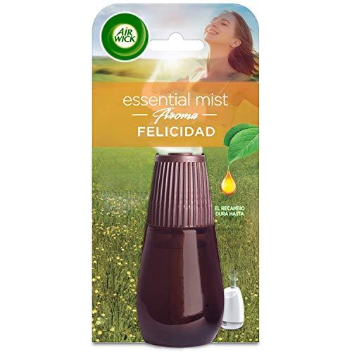 Air Wick - Essential Mist Recambio Ambientador fragancia Felicidad (piña, melocotón y menta salvaje), 94 gr
