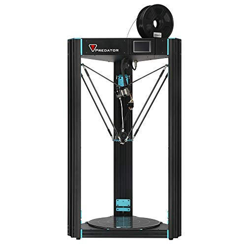 ANYCUBIC Predator Delta Kossel 3D Printer Pre-assembled with Ultrabase hotbed and Assisted Leveling Large Print Size 370×370×455mm UK Plug + Free 1kg Filament, Works with PLA, TPU, ABS, HIPS, Wood
