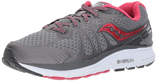 Saucony Women's Echelon 6 Running Shoe, Grey Pink, 7 Wide US