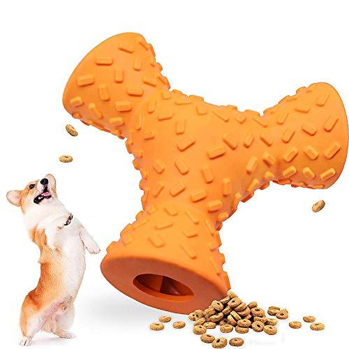 hond speelgoed drie kanten hondenvoer lekken voedsel trage eter kiezen tanden schoonmaken tanden bijten weerstand