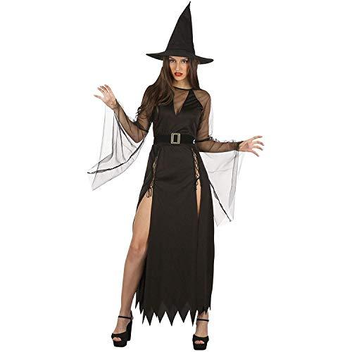 Bristol Novelty AF097 - Abito da strega, da donna, taglia unica, colore: Nero