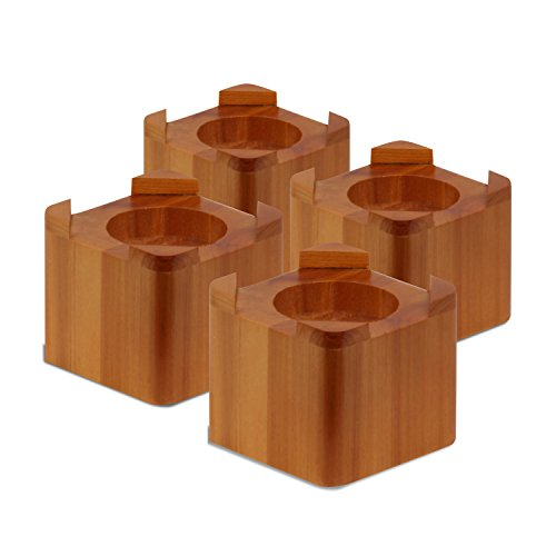 Honey-Can-Do STO-01150 Wood Bed Lifts - Light Finish, 4-Pack, Maple, 4 Count