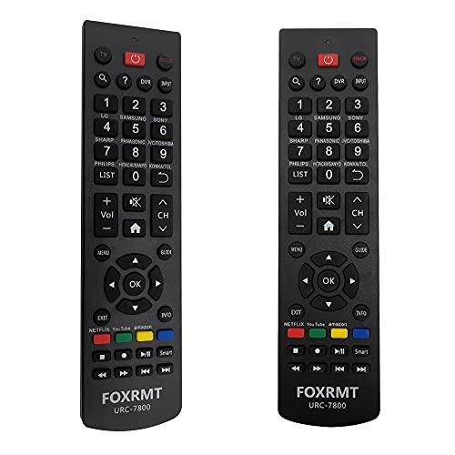 FOXRMT Reemplazo Mando a Distancia Universal para Philips/Samsung/LG/Sony/Sharp/HAIER/RCA/Westinghouse/Insignia/VIZIO/MAGNAVOX/SANYO/VESTEL/SEIKI/Sky TV - Mando TV Universal