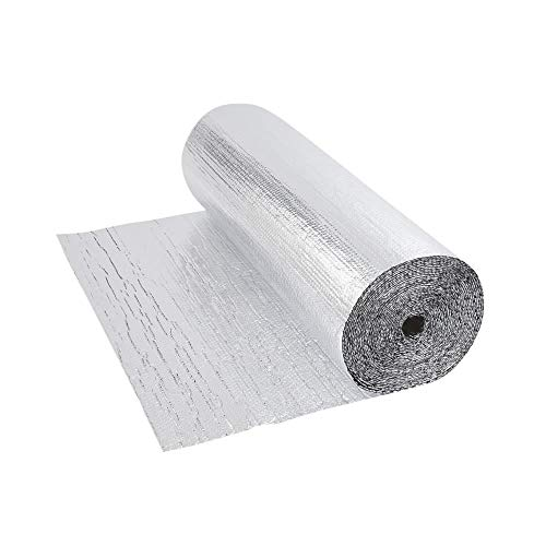 Biard Double Aluminium Double Layer Bubble Wrap Foil Insulation Roll - 1.2m x 5m (6m�) for use with Loft, Floor, Wall, Motorhome, Boat & Shed - 300g per m�