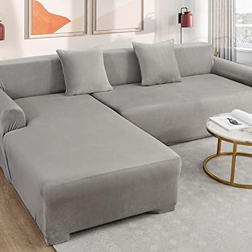GSYM Funda de sofá Antideslizante de Terciopelo, Funda de sofá elástica, Funda de sofá Antiarrugas, Lavable
