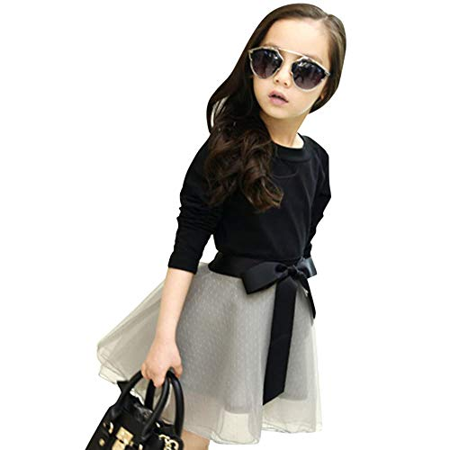 Hopscotch Girl's Polycotton Top and Skirt Set (Grey)