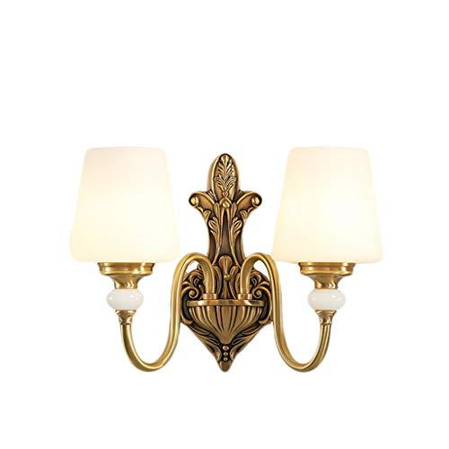Wandlamp, wandlamp van koper, Europese stijl, Amerikaanse Amerikaanse stijl, wandlamp, eenkleurig, van zuiver koper