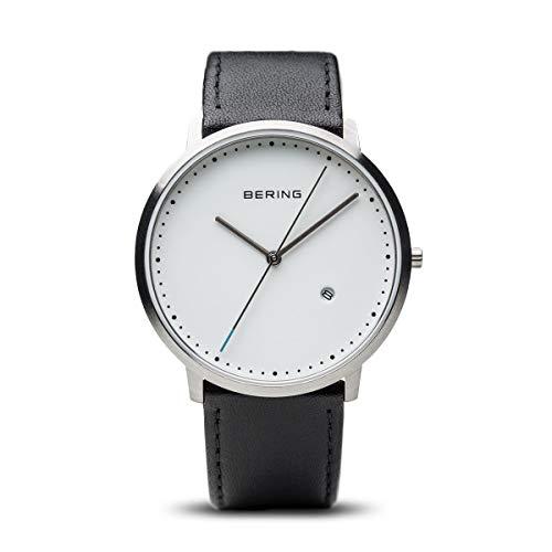 BERING Unisex-Armbanduhr Analog Quarz Leder 11139-404