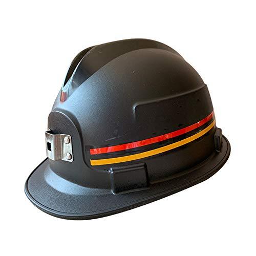 WFF Casco de construcción Casco de Seguridad - Casco de Seguridad subterráneo PE ABS para mineros Mejor protegerte (Color : Black, Material : PE)