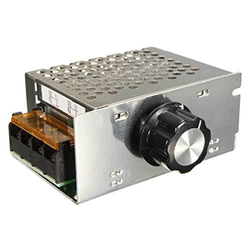AC 220V 4000W Scr regulador de Voltaje regulador de Velocidad del Motor electrónico (Plateado)