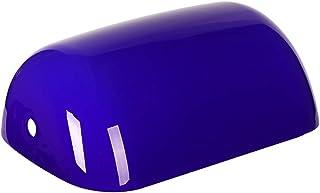 Newrays reemplazo de la cubierta de la lámpara de banqueros de vidrio para lámpara de escritorio (Azul)