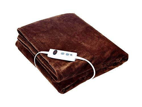 Promed Heizdecke mit Abschaltautomatik Waschbar, Kuschelige Wärmedecke Elektrisch 180x130 cm mit 10 Temperaturstufen, Wärmende Decke für Nacken, Schulter & Rücken