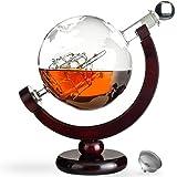 Awemoz® Whiskey Karaffe - Globus - Whisky Karaffe - Geschenke für Männer - 800 ml - Inkl. Ausgießer