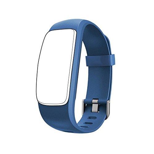 endubro Cinturino per ID107 Plus HR & Molti Altri Modelli Realizzato in TPU Skin-Friendly con Chiusura antiallergica (Blu)