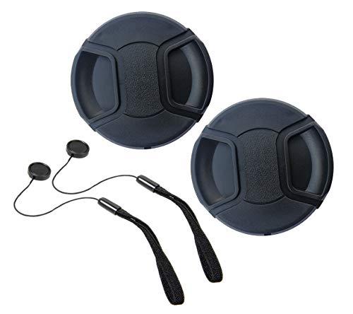 55mm Lens Cap for Nikon AF-P(Not for AF-S) DX Nikkor 18-55mm f/3.5-5.6G VR Sony FE 28-70mm f/3.5-5.6 OSS,Compatible with Canon EF-M 11-22mm f/4-5.6 is STM Kit Lens 55mm Filter Thread[2 Pack]
