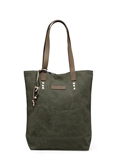 The House of Tara Moss Green Solid Canvas Tote Handbag for Women (HTT 320_Moss Green)