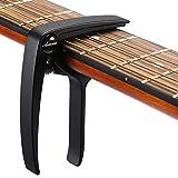 Asmuse Trigger Cejilla Guitarra Electricas Skeleton Capo para Guitarra Española Acustica Folk Ukelele Bajo instrumento Ligero Sola Mano Cambio Fácil y Rápido Aleación de Aluminion de Aluminio