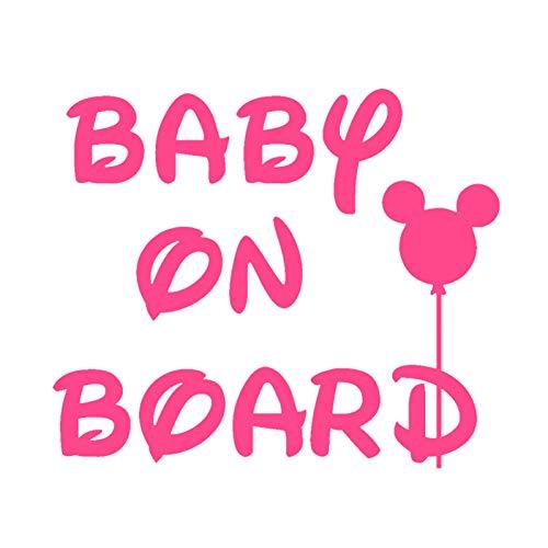CSCH Auto-Aufkleber 15 * 12,8 cm Rosa Mädchen Baby An Bord Auto Aufkleber Vinyl Aufkleber Reflektierende 3D Aufkleber auf Auto Styling