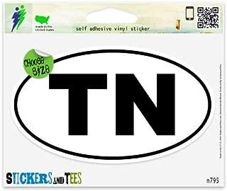 Tennessee TN White State Oval Vinyl Car Bumper Window Sticker 3